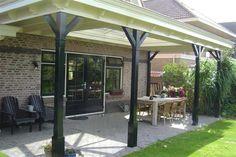 Jaren 30 terrasoverkapping in meer klassieke stijl.