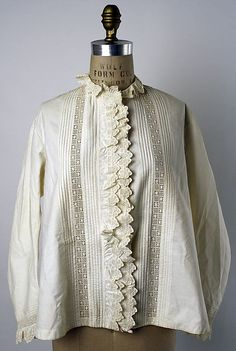 Bed jacket Date: 1870s Culture: American or European Medium: cotton