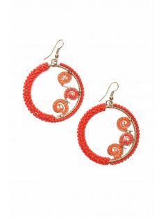 BORRO Red Circles Earrings