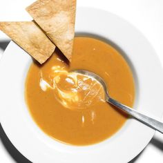 Sweet potato and chipolte soup, really good on its own but better with a scoop of plain yogurt, freezes really well.