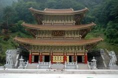 Cheontae Temple, Guinsa, South Korea-  strikingly located, the temple is squeezed into a narrow valley surrounded on all sides by mountains. Unlikely many of Korea's temples, Guinsa is fairly new, being rebuilt after it was burned to the ground in the Korean war.