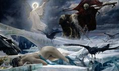 Ahasuerus At The End Of The World Painting  - Ahasuerus At The End Of The World Fine Art Print