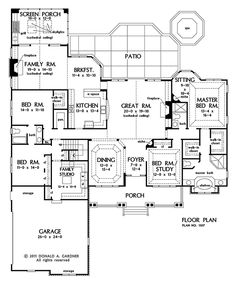 PLAN OF THE WEEK: Special Details Our featured designs Over & Under 2500 sq. this week are each full of special details that add elegance and functionality. Craftsman ranch and bungalow. Country Style House Plans, Dream House Plans, House Floor Plans, My Dream Home, Dream Homes, Bedroom Floor Plans, The Plan, How To Plan, Plan Plan