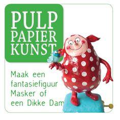 Pulphokblog: Mooie Dikke Dame - papier maché, prachtig toch!