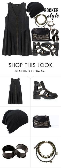 """""""1177."""" by asoul4 ❤ liked on Polyvore featuring Monki, Zara, Hot Topic, Givenchy, rockerchic and rockerstyle"""
