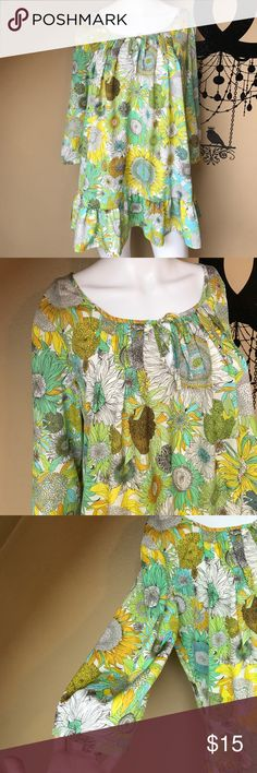 Liberty of London for Target sunflower top A lovely top- full of beautiful colors & flowers. No rips or stains. Chest across 21 inches. Bundling is fun; check out my other items! No price talk in comments. No trades or holds. NO SPAM. A384 liberty of london Tops Blouses