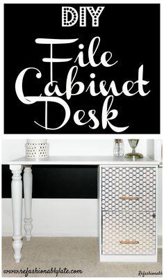 DIY File Cabinet Des