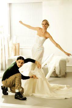 Olivier Theyskens and Lauren Santo Domingo