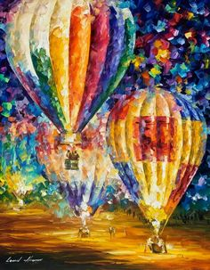 Balões Hot Air Balloons Art by Leonid Afremov♥♥