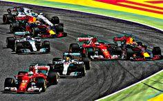 Lataa kuva Formula 1, HDR, Daniel Sebastian Vettel, Max Verstappen, Kimi Raikkonen, Valtteri Bottas, Lewis Hamilton, Sebastian Vettel, Felipe Massa, F1