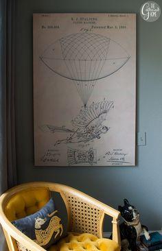 The Gathered Home: DIY Floating Frameless Vintage Patent Art