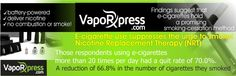 E-cigs are said to be the best Nicotine Replacement Therapy as they sprees the urge to smoke, so #vape on stop smoking and don't forget to  check our store for wide variety of flavors to increase the pleasure of vaping >>https://vaporxpress.com/9-e-liquid-flavors