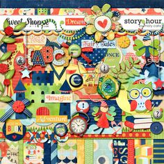 Story Hour by Misty Cato Digital Scrapbooking Freebies, Kids Rugs, Scrapbook Kit, Memories, Make It Yourself, Scrapbooks, Holiday Decor, How To Make, School