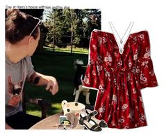 """""""#1965"""" by sofi-camachod ❤ liked on Polyvore featuring American Eagle Outfitters, Topshop, Witchery, OneDirection, harrystyles, 1d, 1DOutfits and harrysgirl"""