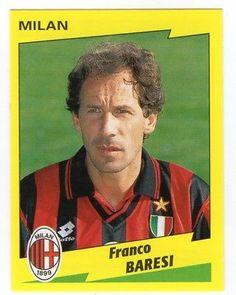 Franco Baresi (Milan - Serie A) Football Stickers, Football Cards, Football Soccer, Football Players, College Basketball, Franco Baresi, Football Italy, European Soccer, Everton Fc
