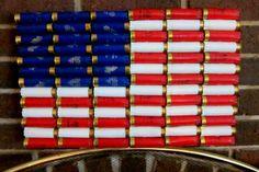 "16.5 x 10.5"" Shotgun Shell American Flag Wall Decor on Etsy, $35.00"