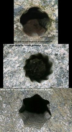 A stars hole in U.S. on the first picture is the same stars hole in Norway,on the other pictures.