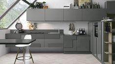 luxuriöse küchengestaltung mit grau