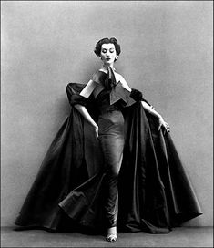 Christian Dior 1950s dress…the first evening dress designed by his new assistant Yves Saint-Laurent