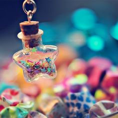 Shining star by EliseEnchanted on DeviantArt Miniature Photography, Cute Photography, Bottle Charms, Bottle Necklace, Smile Wallpaper, Galaxy Wallpaper, Cute Images For Dp, Beautiful Nature Wallpaper, Glitter Stars