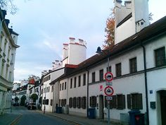 These houses are built right into the city walls of Ingolstadt, Germany, a nice spot to run while in Audi's hometown