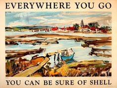 Everywhere You Go Shell Bosham West Sussex 1930s - original vintage poster by Paul Sheriff listed on AntikBar.co.uk