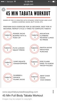45 Min Tabata Workout | Posted by: NewHowtoLoseBellyFat.com