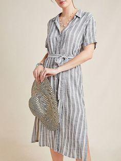 710a626cc9c Stylewe Shirt Dress Sundress Daily Shift Shirt Collar Buttoned Casual Short Sleeve  Dresses