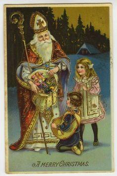 .Sinterklaas, zijn ,,verjaardag is op 6 December,En hij heeft al een hele lange staat van ,,dienst.De Kerstman,is ontstaan door Cola ,de Kerstman is dus nog maar een ,,jongkie,, vergeleken met de Sint.Wat ze wel gemeen hebben is, dat het grote kinder vrienden zijn .lb xxx.QQQ