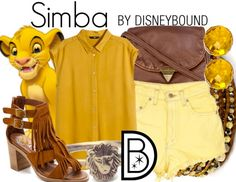 This Simba outfit is perfect for a hot summer day. | Disney Fashion | Disney Fashion Outfits | Disney Outfits | Disney Outfits Ideas | Disneybound Outfits |  Lion King Outfit |