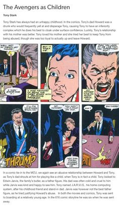 tony stark iron man howard stark avengers backstories avengers marvel mcu