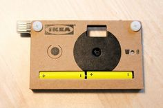 #kn�ppa, a cardboard digital camera designed by jesper kouthoofd para #ikea