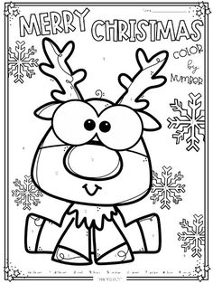 Christmas is just around the corner! Here's a fun Christmas activity pack: Here's a FREEBIE: Merry Christmas! Fun Christmas Activities, Christmas Art Projects, Christmas Worksheets, Preschool Christmas, Kids Christmas, Christmas Crafts, Christmas Color By Number, Christmas Colors, Rodolphe Le Renne