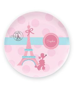 Look what I found on #zulily! Ohh La La Paris Personalized Plate #zulilyfinds