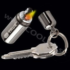 FireStash is the smallest waterproof lighter in the world. It attaches easily to your keyring or bag and gives you the power of fire come rain or shine Survival Life Hacks, Survival Tools, Survival Stuff, True Utility, Cool Lighters, Tool Store, Gothic Home Decor, Fire Starters, Camping Essentials