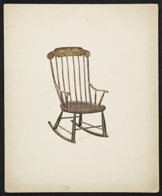 Citation: Rocking chair, 193- . Dorothy Hay Jensen papers, Archives of American Art, Smithsonian Institution.