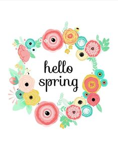 Spring crafts, spring projects, first day of spring, happy spring, spring. Lettering, Printable Art, Free Printables, Easter Printables, Spring Quotes, First Day Of Spring, Spring Time, Spring Wear, Happy Spring Day