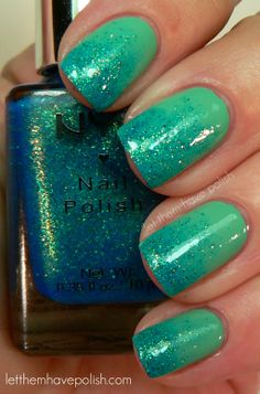 nail polish - like a mermaid: this is not easy. any of the gradation polishes are difficult to do. but it looks pretty in the picture :)