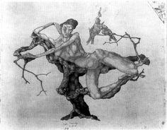 Vergine su albero 1903 di Paul Klee (1879-1940, Switzerland)