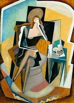 Self-Portrait with Still Life - Marevna (Marie Vorobieff)