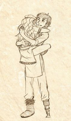 yeee by halfnote.deviantart.com on @deviantART < Hiccup and Astrid. :)