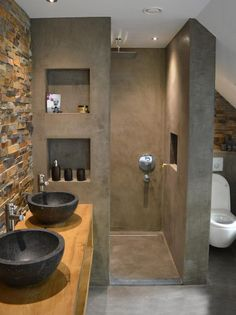 Modern Bathroom Designs for Small Bathrooms . Modern Bathroom Designs for Small Bathrooms . Small Shower Bathroom Ideas In 2019 Concrete Bathroom, Bathroom Spa, Bathroom Lighting, Bathroom Ideas, Bathroom Shelves, Bathroom Furniture, Bathroom Storage, Master Bathroom, Bad Inspiration