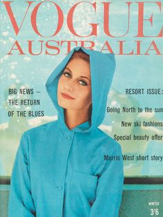 Vintage Vogue Tuesday #36Every Tuesday we bring you an iconic Vogue Australia image from our archives.The Return of the Blues, Vogue Australia Winter 1962.Image by Maurice O'Connell. From In Vogue: 50 years of Australian style