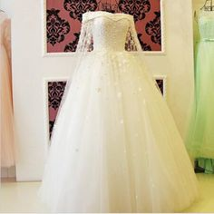 Wedding Dress New Bride Princess Sweet Romantic White Lace Flower Court Train Wedding Gown