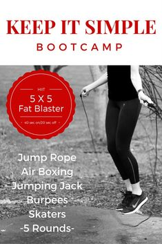Burn tons of calories and give your metabolism a boost! Keep It Simple Bootcamp For full instructions go to Cardio Coffee and Kale