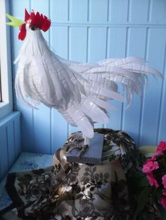 How to DIY Swan Garden Decor from Plastic Bottles Reuse Plastic Bottles, Bottle Cap Art, Plastic Bottle Crafts, Plastic Art, Diy Bottle, Recycled Bottles, Recycled Art Projects, Recycled Crafts, Diy Home Crafts