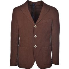 Macro Patterned Blazer (1.495 BRL) ❤ liked on Polyvore featuring men's fashion, men's clothing, men's sportcoats, brown and men's sportcoats and blazers