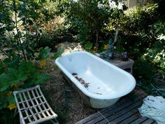 Outdoor tub at my friend's place in Fairfax, Cali. Functions as a hot tub