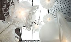 """Incredible lighting by Dutch Designer Paula Arntzen inspired by inspired by the drawing on a book by German biologist and philosopher Ernst Haeckel — """"Kunstformen der Natur"""" – released back in 1904! beautiful, organic lighting."""