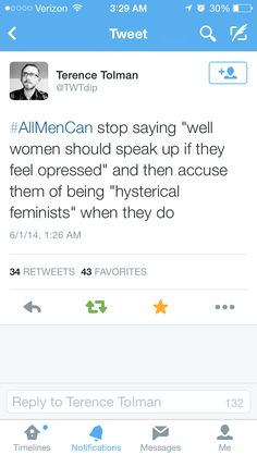 Stay silent and everyone thinks everything is cool. Speak up and be called a hysterical b****